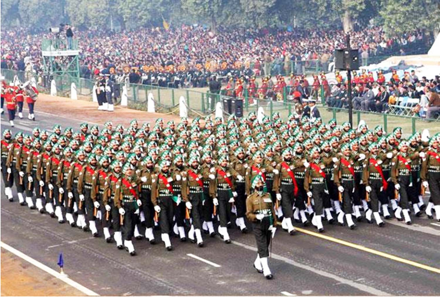 Army parade in national capital celebrating republic day