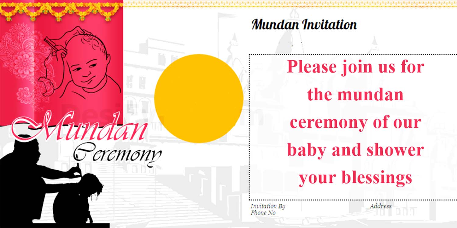 mundan ceremony invitation cards wording