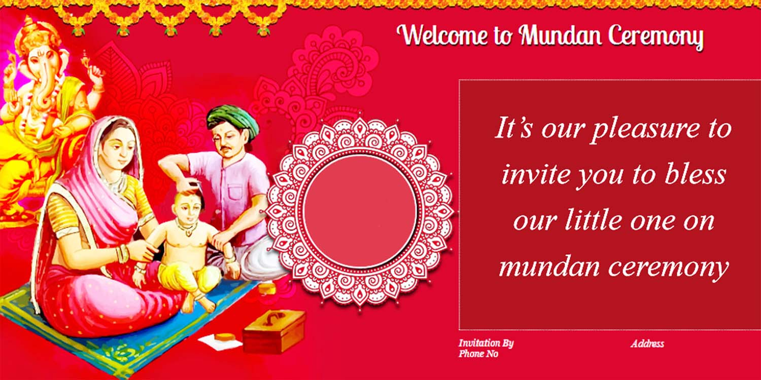 mundan ceremony invitation cards wordings