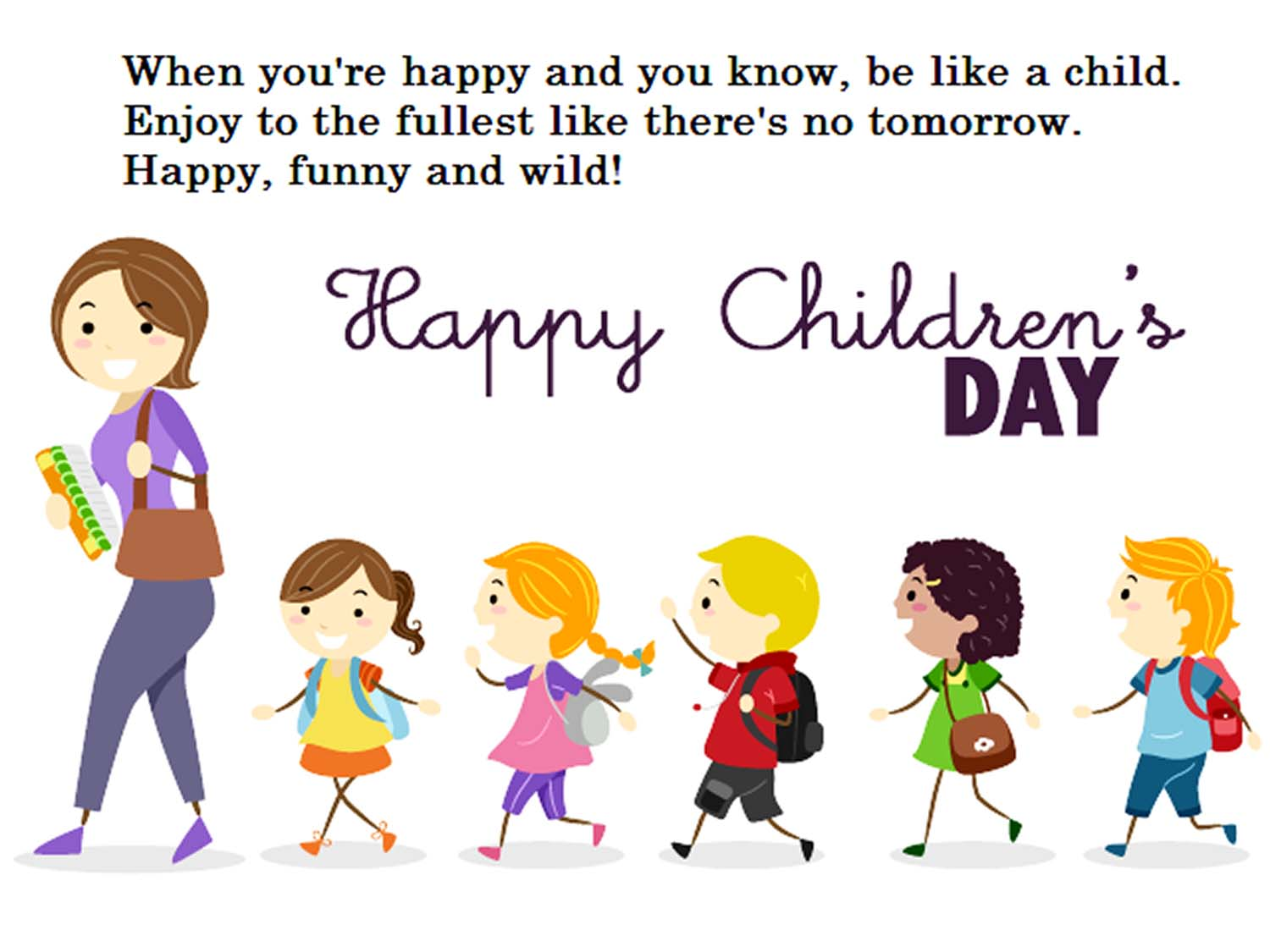 short poem on children's day in english