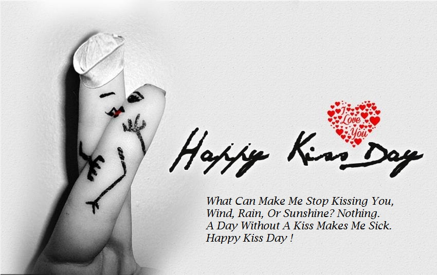 happy kiss day msg