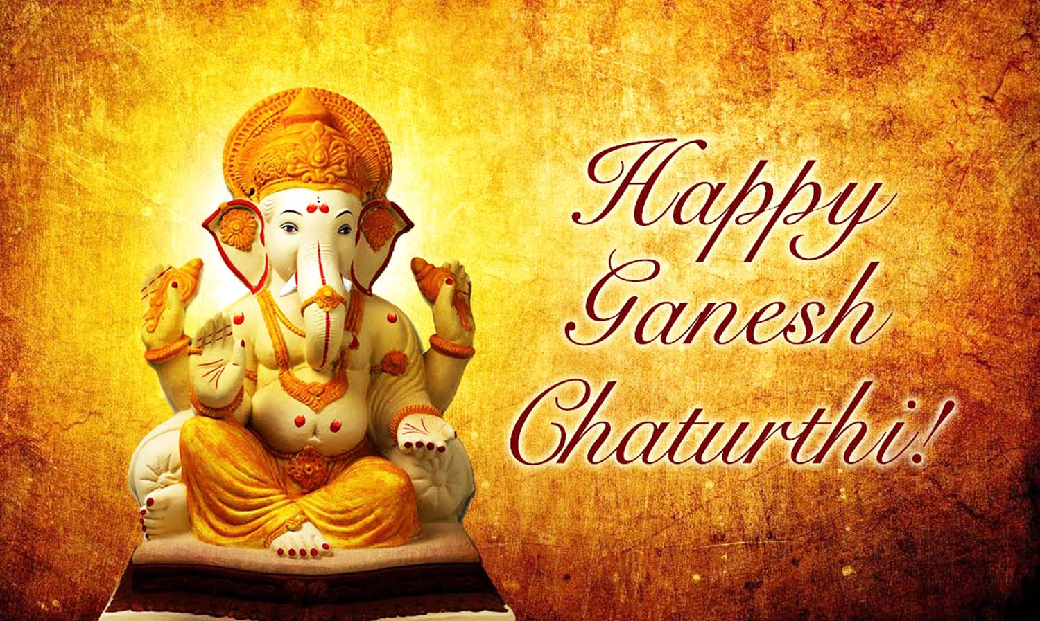 Clay idol happy Ganesh chaturthi wallpaper!