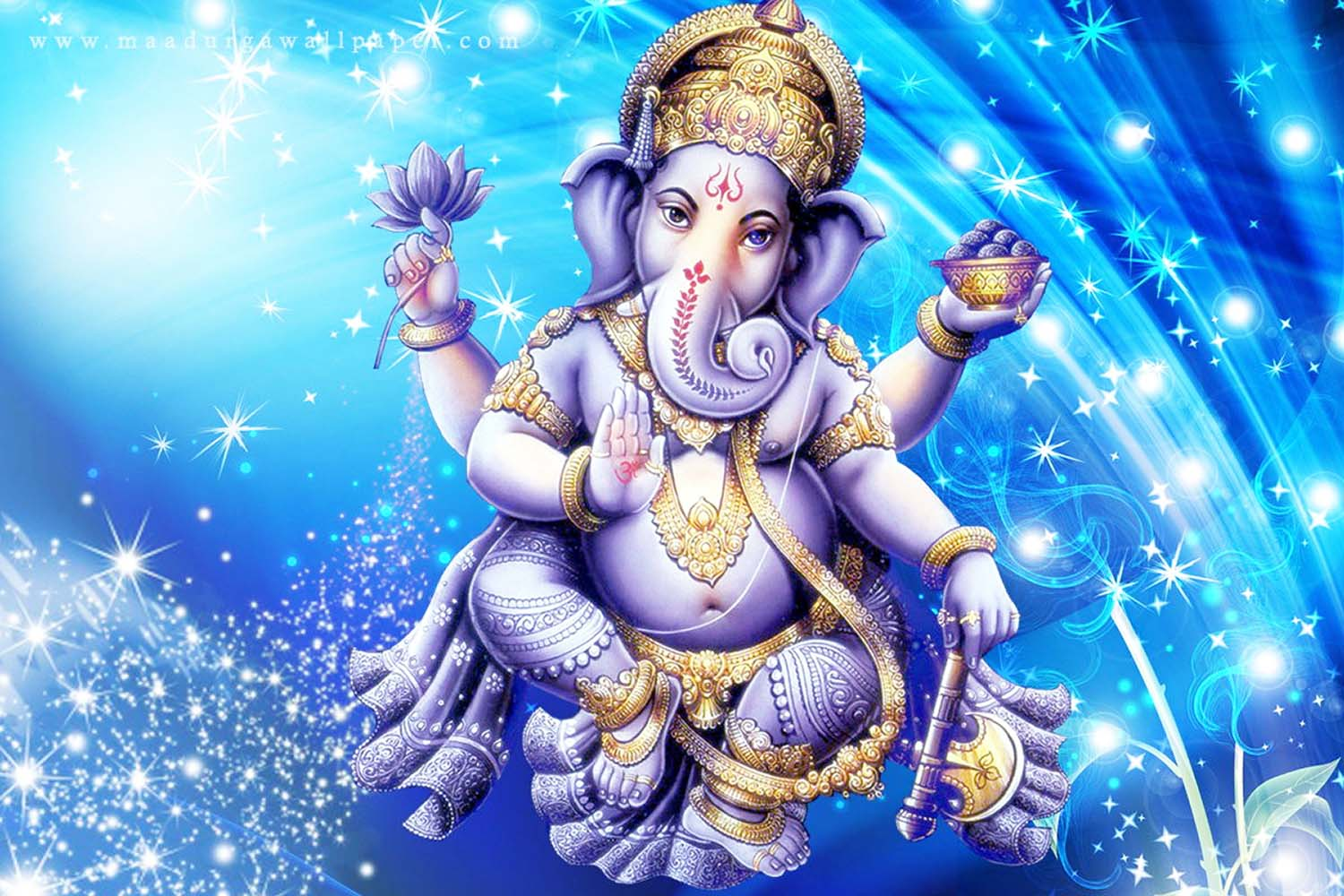 Awesome Vinayak wallpaper in blue background!