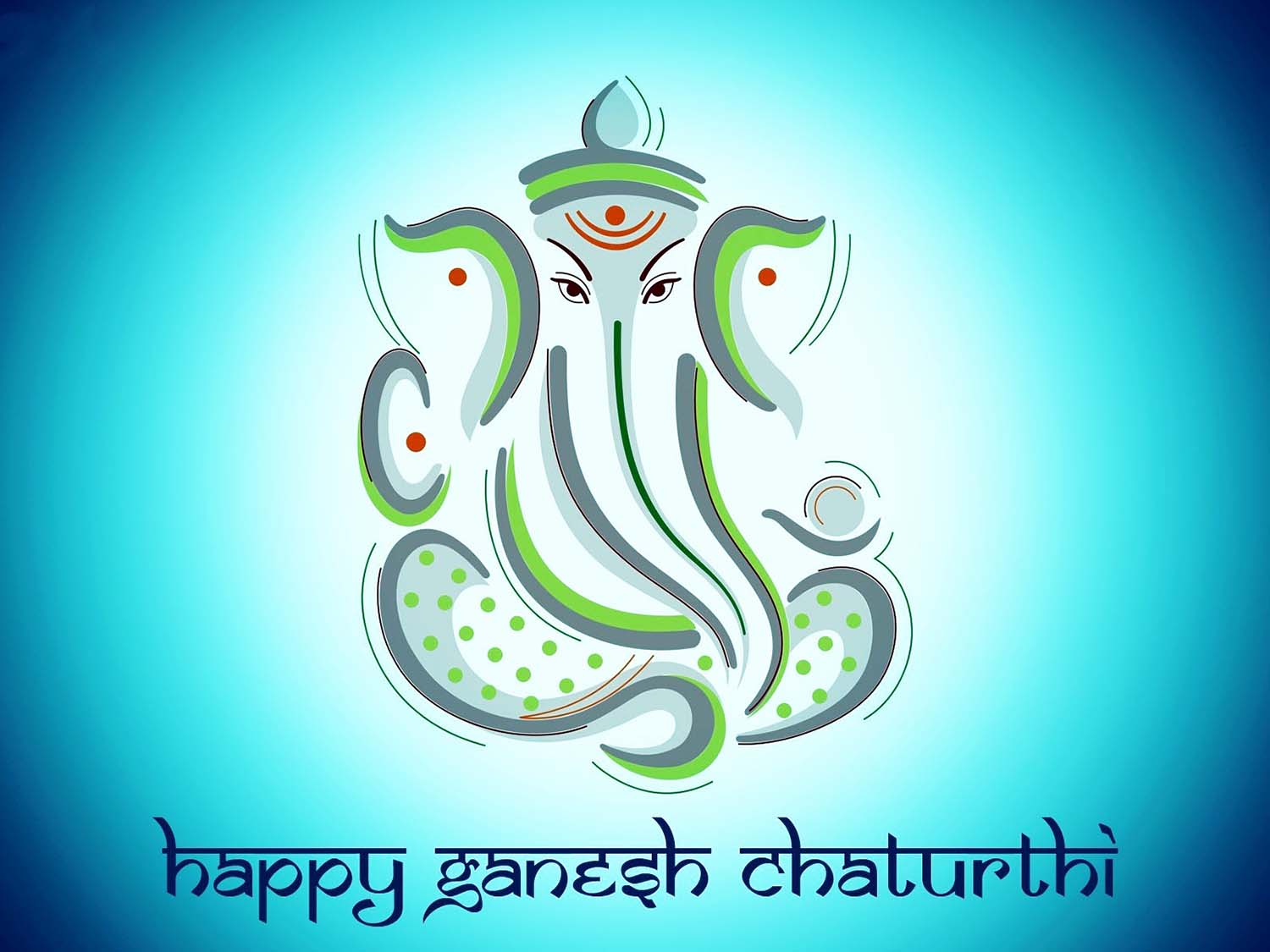 Lord Vinayak Image in glowing blue!