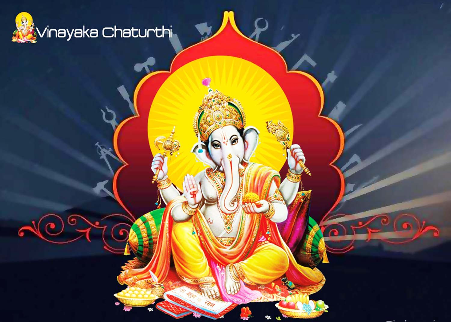 Lord Ganesha with a pillow