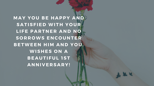 1st wedding anniversary facebook status
