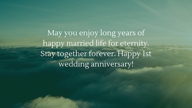 1st wedding anniversary wishes for sister