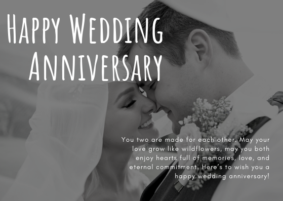 Wedding anniversary wishes for couple