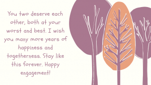 friend engagement wishes