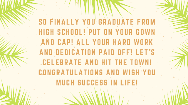 graduation message from teachers