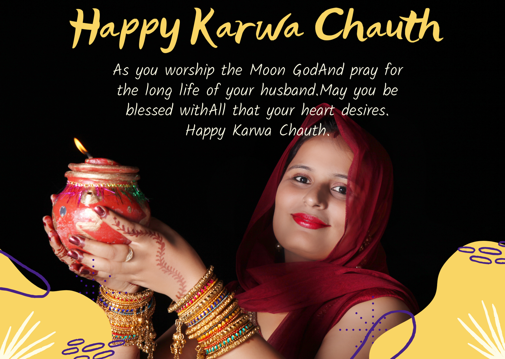 happy first karwa chauth wishes