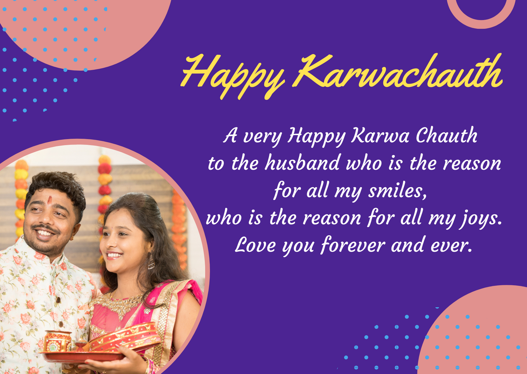 happy karwa chauth my husband