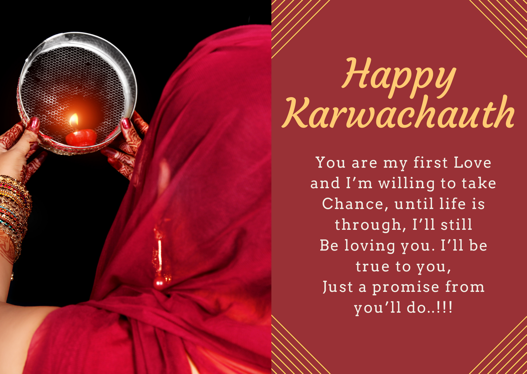 happy karwa chauth to husband