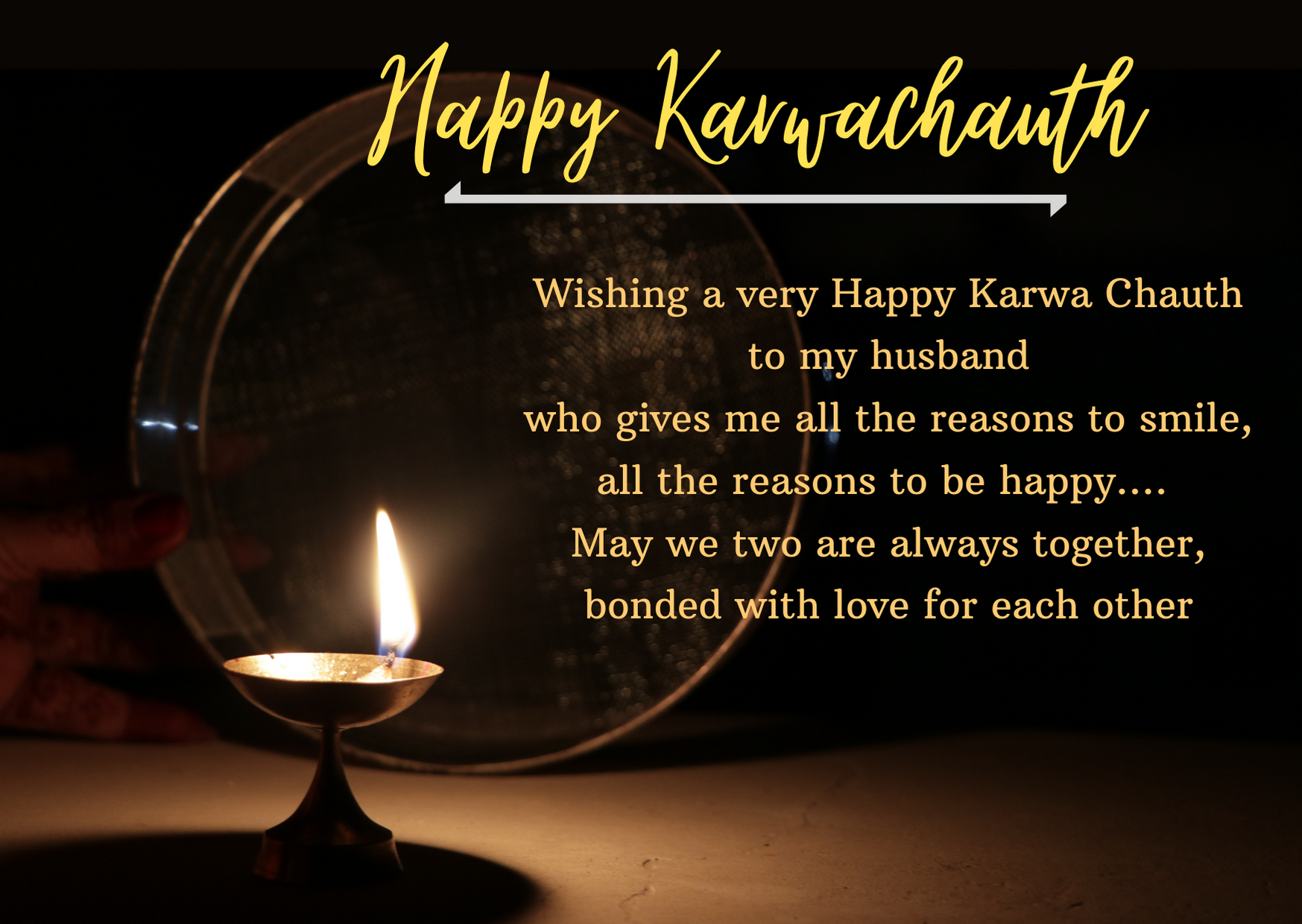 karwa chauth status for husband in english