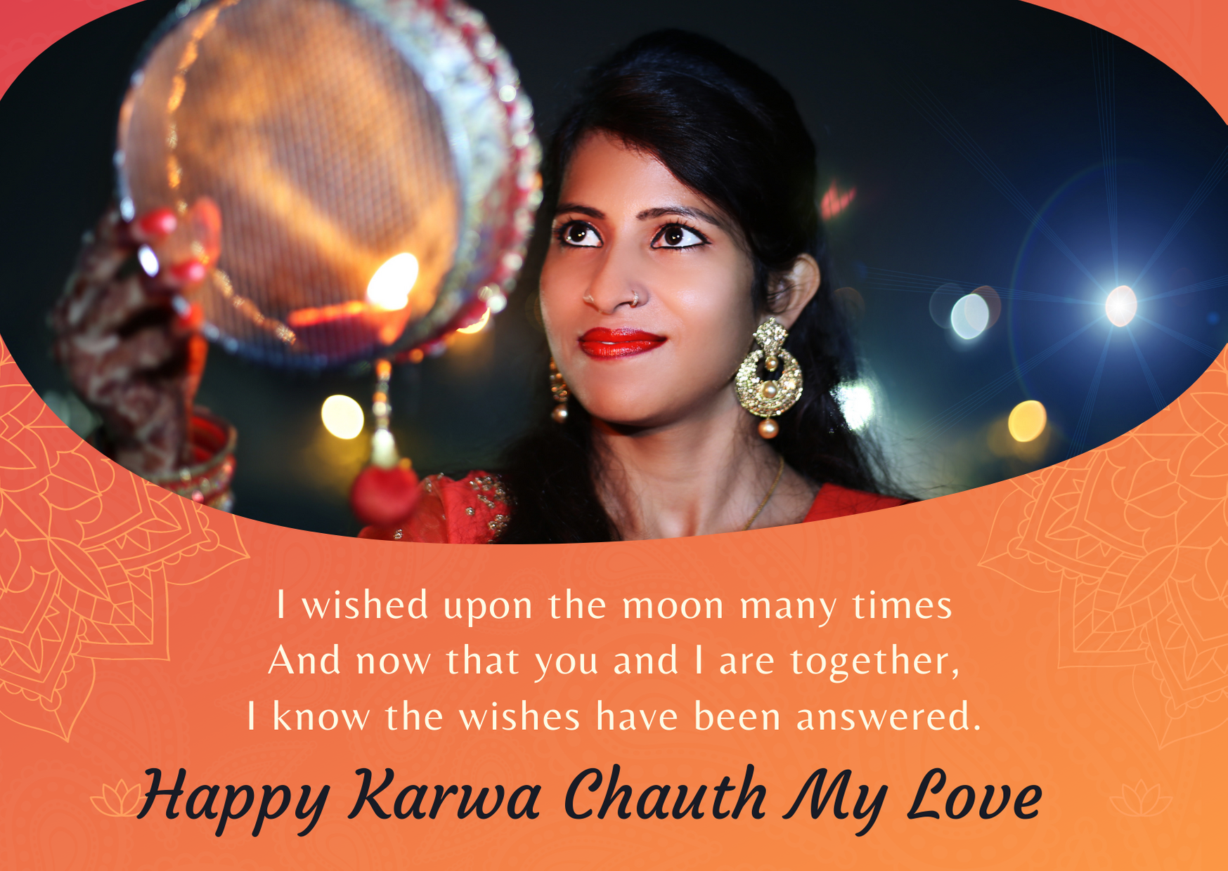happy karwa chauth to wife