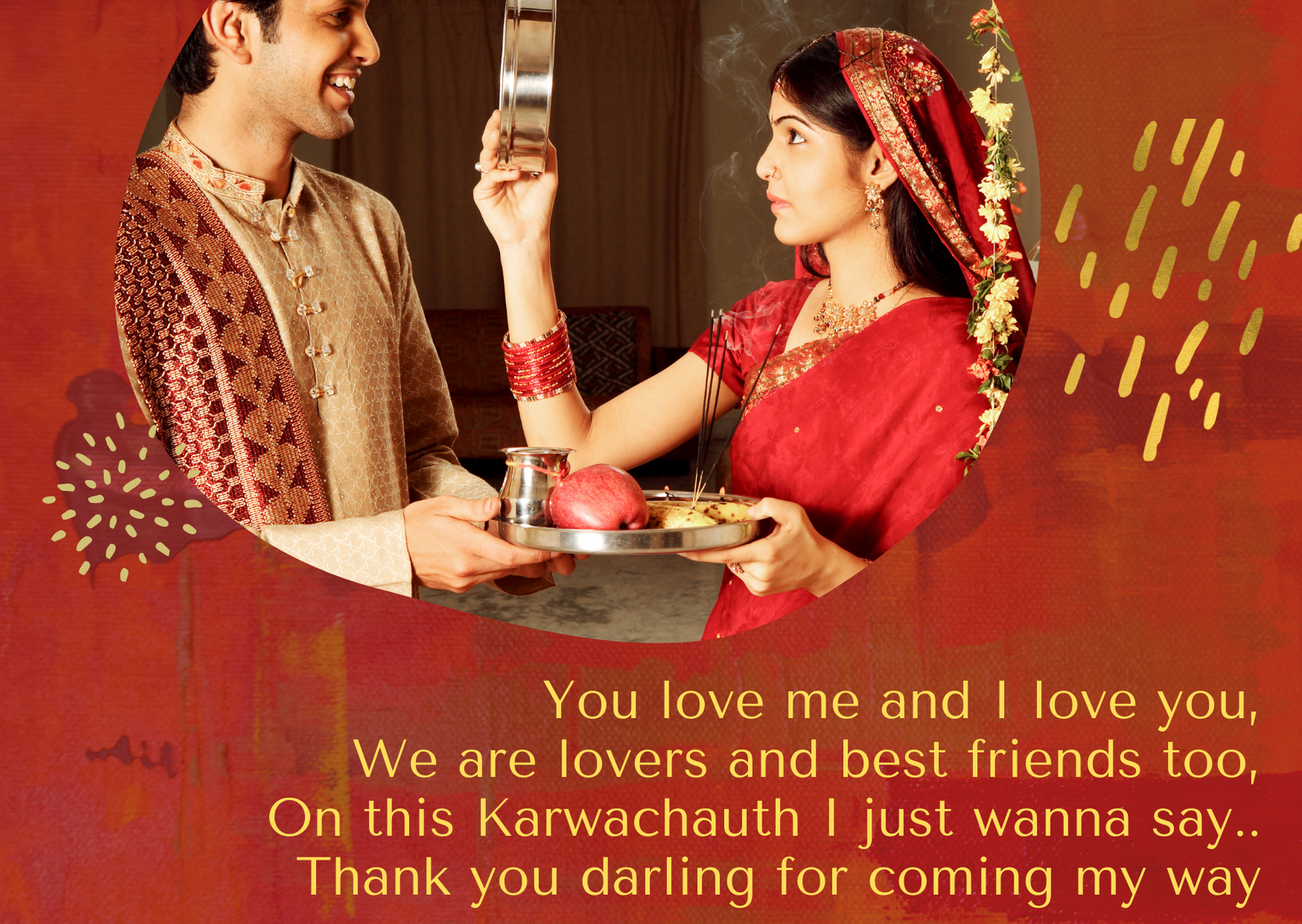 happy karwa chauth wishes to wife