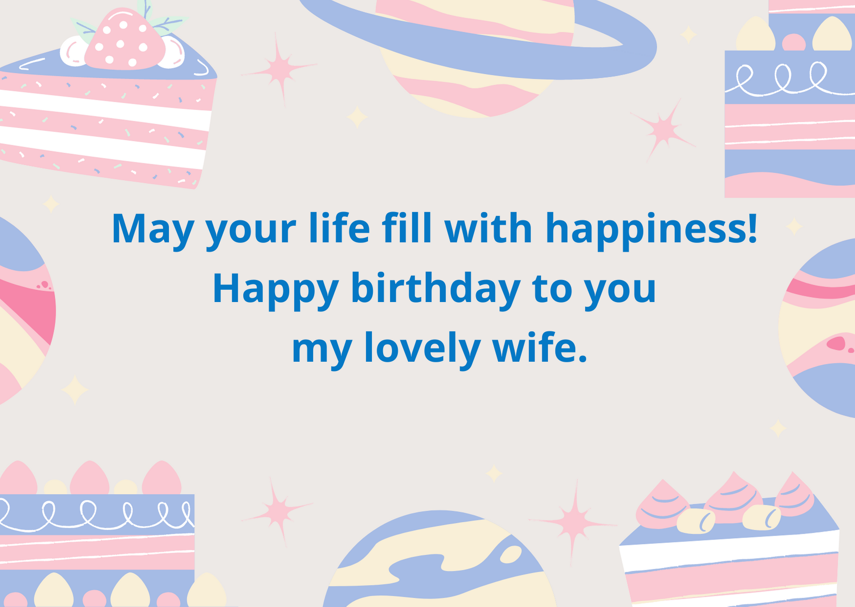 birthday wishes for wife from husband
