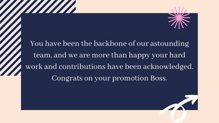 congrats message for promotion