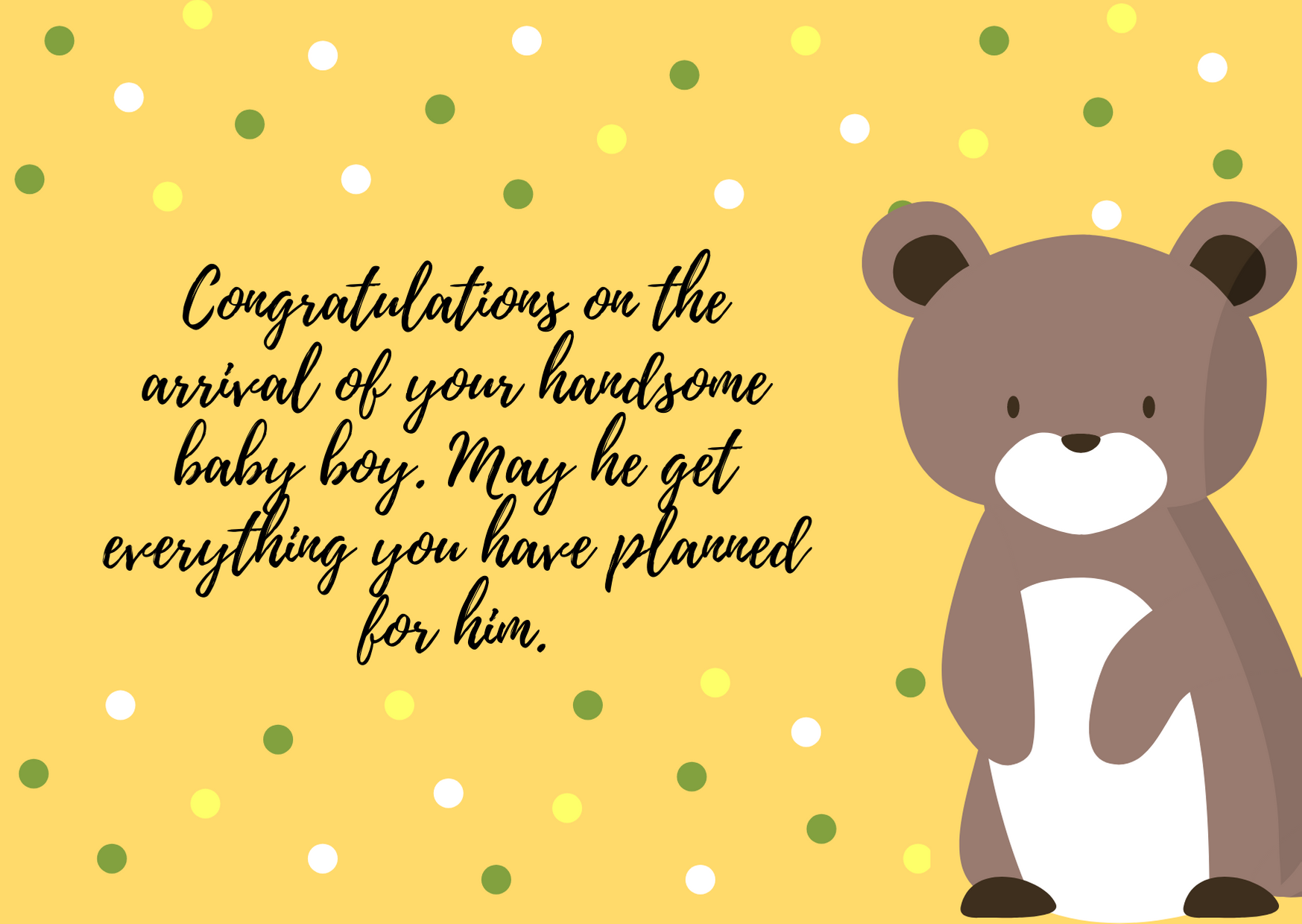 congratulation for your baby boy