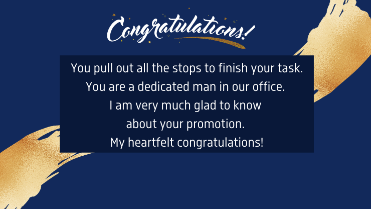 congratulation sms for promotion