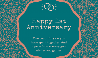 Happy 1st wedding anniversary wishes for sister