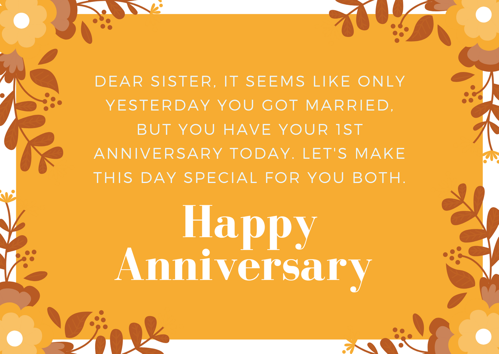 happy anniversary messages to sister