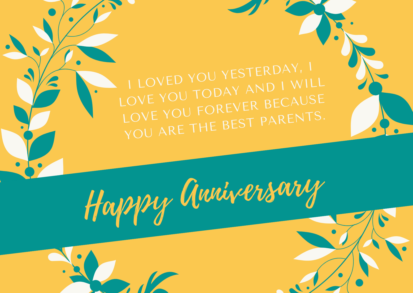 anniversary wishes for parents from children