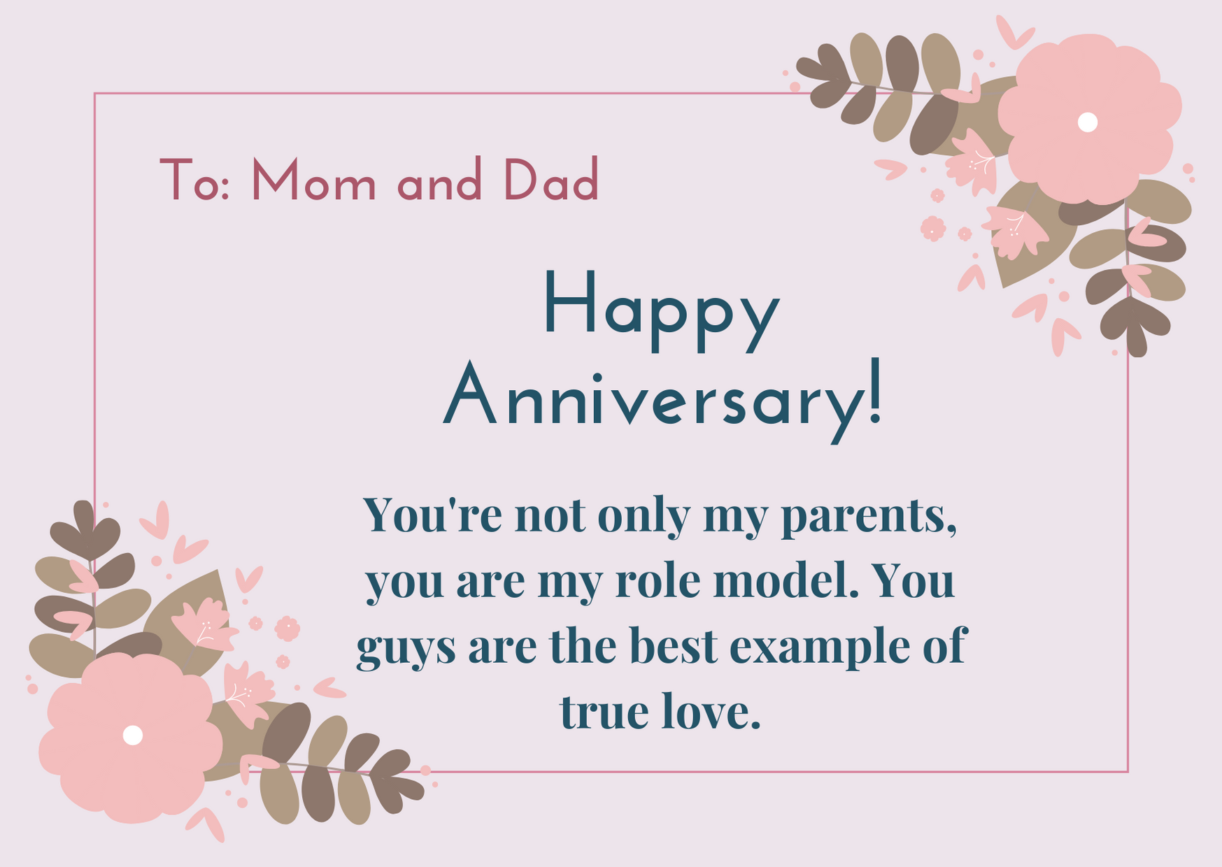 happy anniversary mom and dad from son