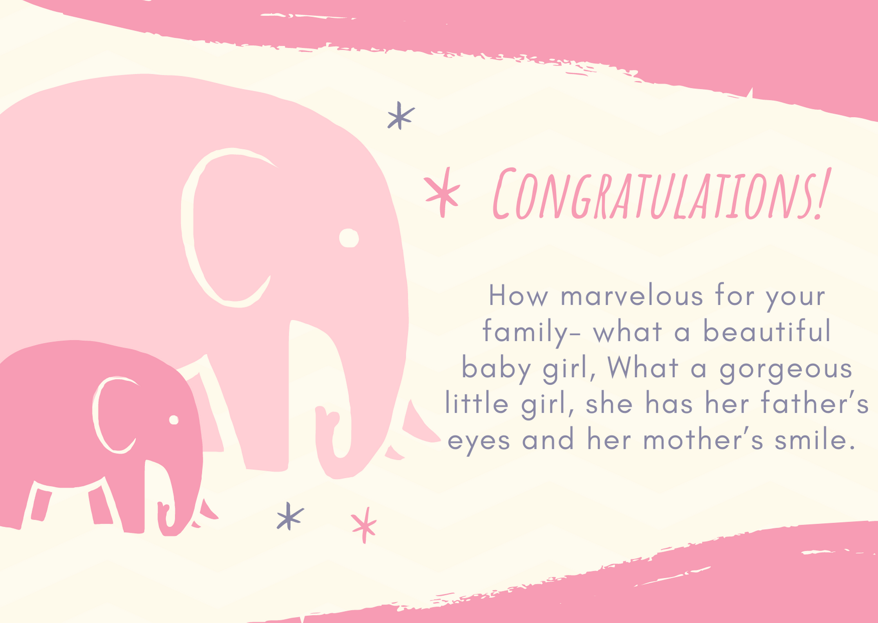 congratulations messages for baby girl