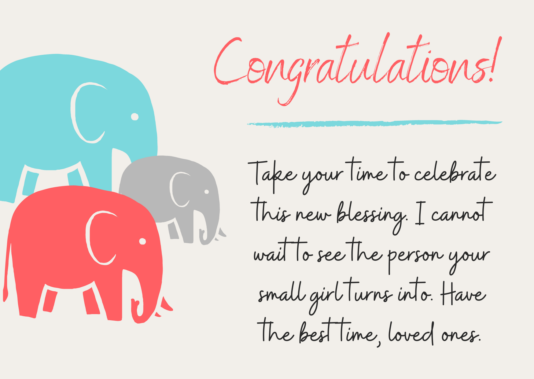 congratulations for new born baby girl