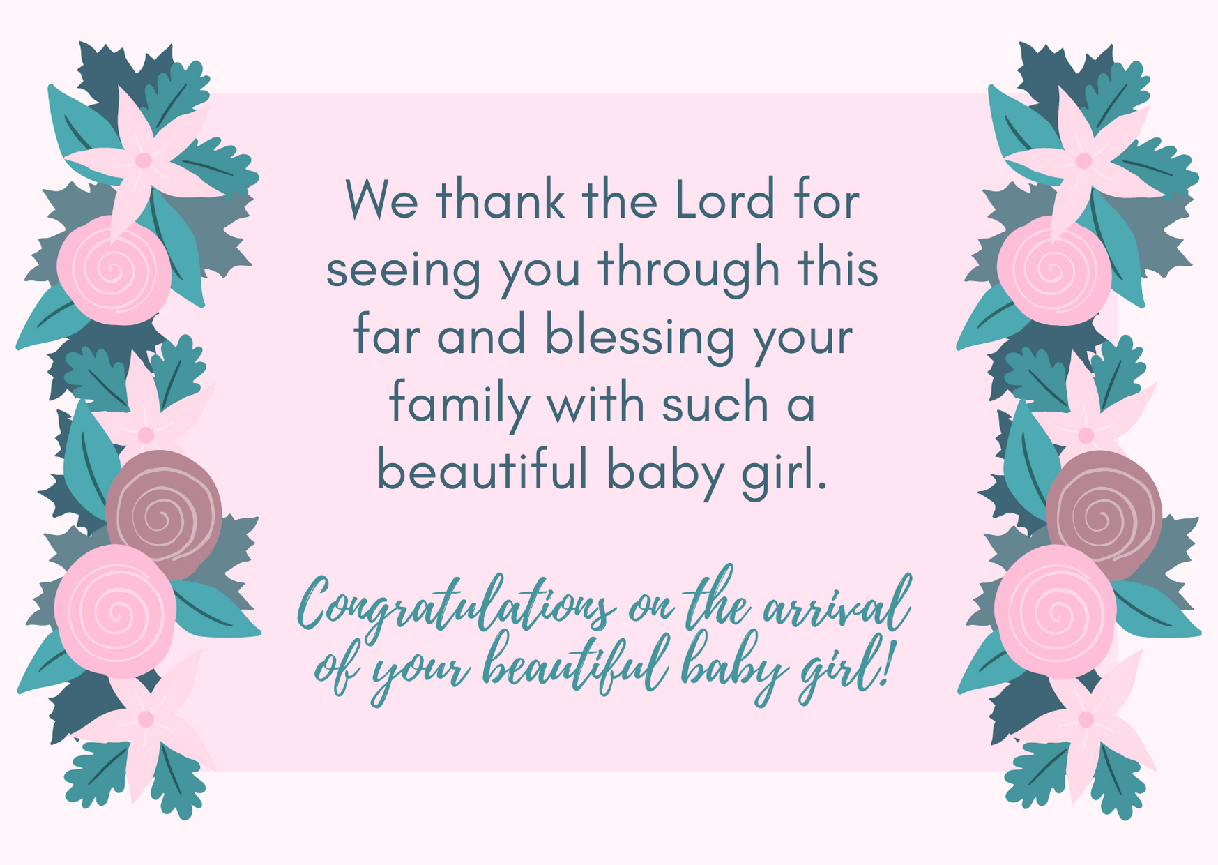 congratulations sms for new born baby girl