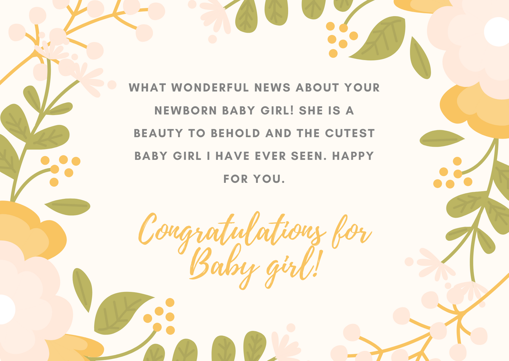 congratulations wishes for baby girl