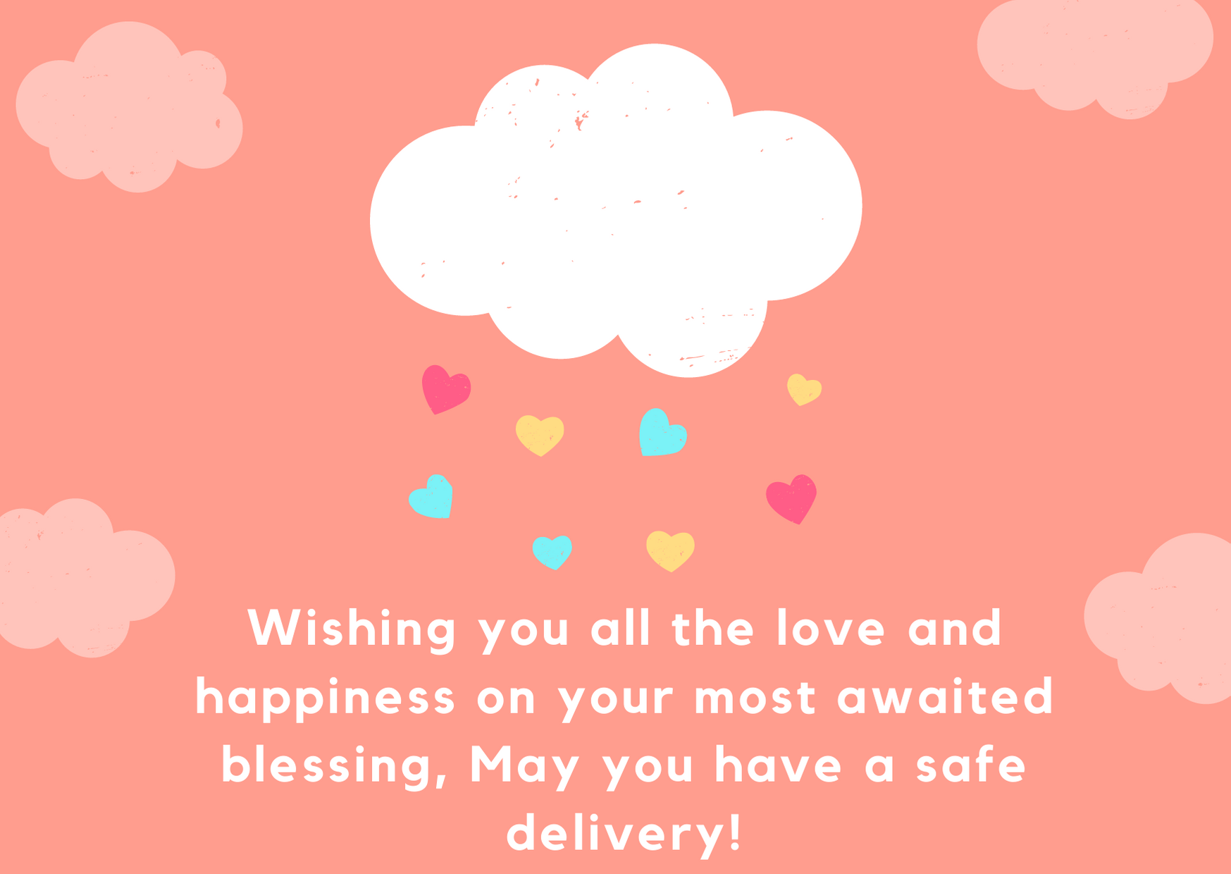 baby shower wishes card
