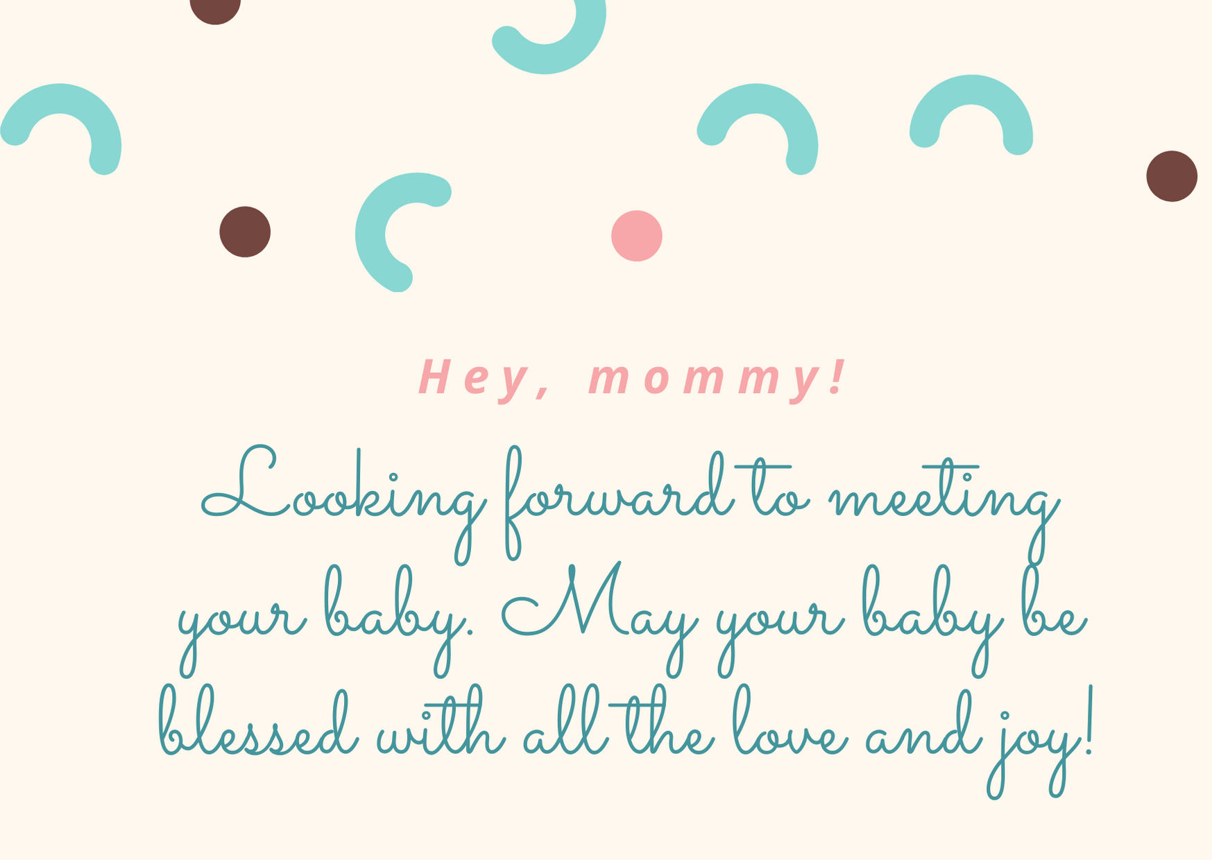 best wishes for baby shower