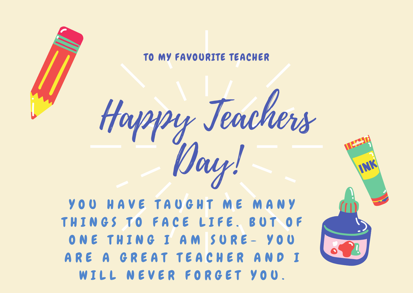 teachers day wishes and images