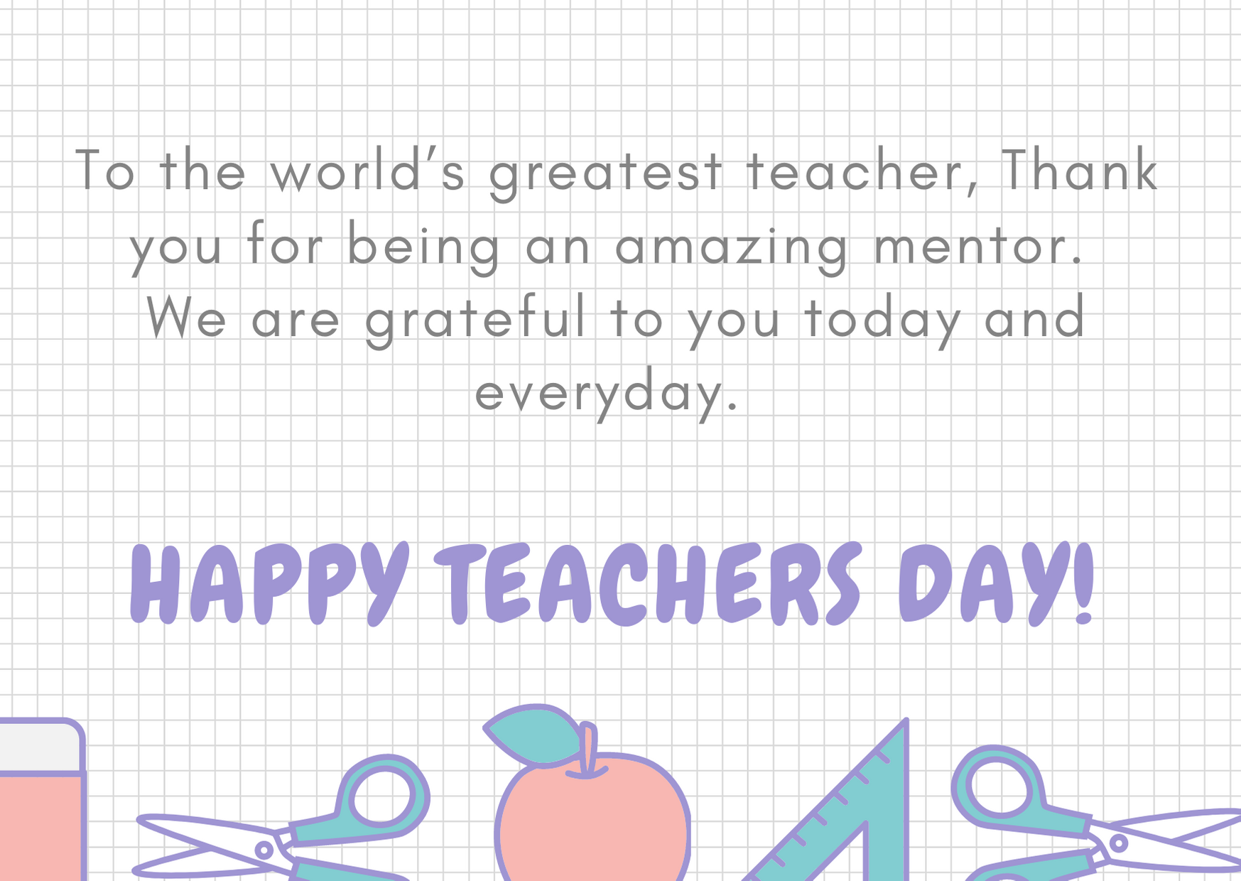teachers day wishes thank you