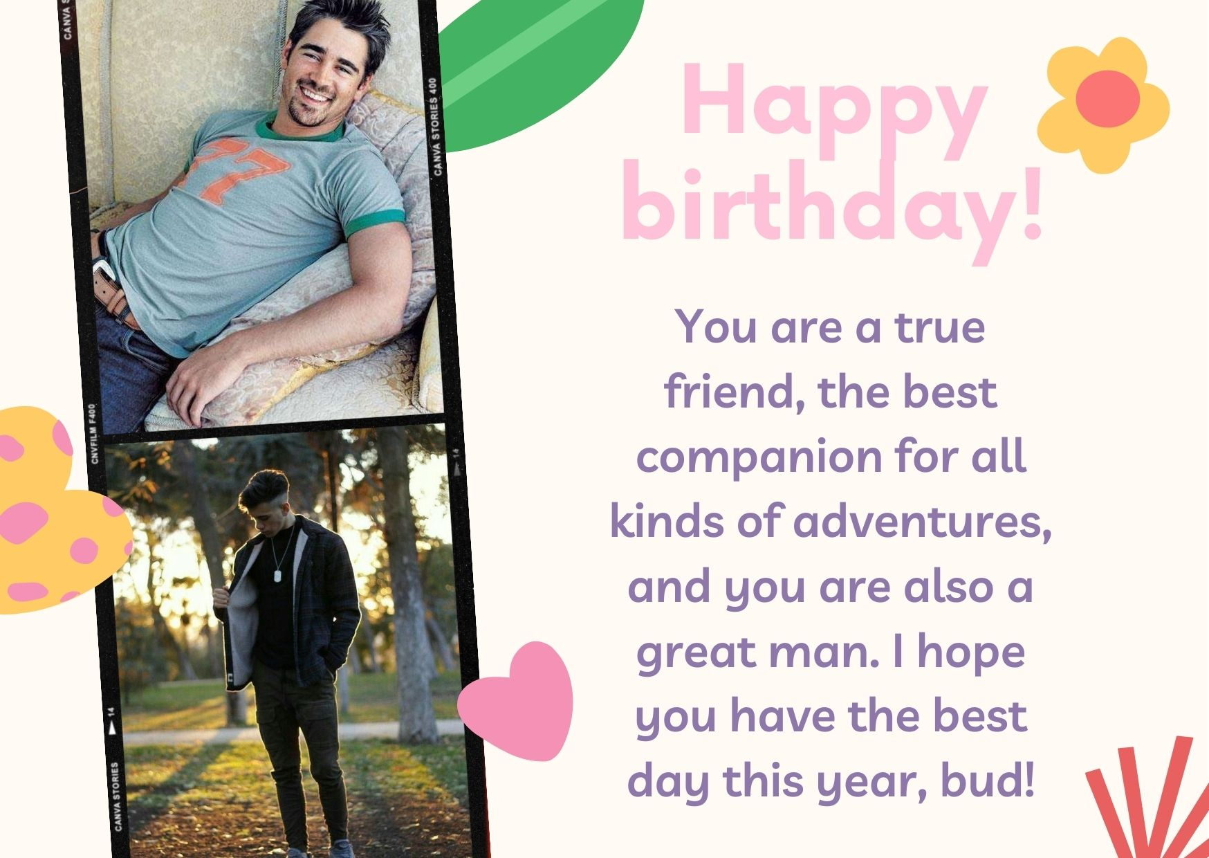 happy birthday wishes for a man friend